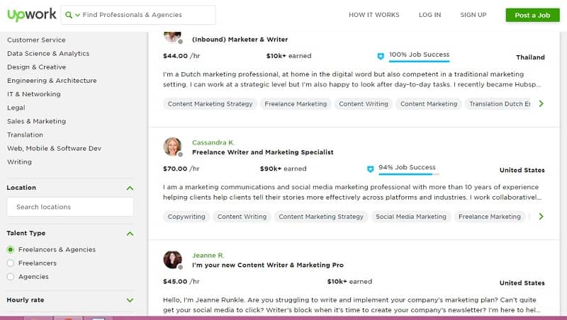 upwork Freelance राइटर